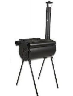 Portable Military Camping Steel Wood Stove Tent Heater Fishing Camp RV