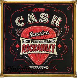 Johnny Cash Rockabilly Tattoo Biker Punk Pinup Retro Country Sourpuss