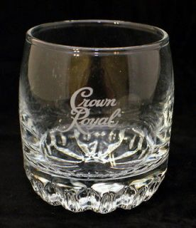 Crown Royal Whisky Rocks Tumbler Bar Glass