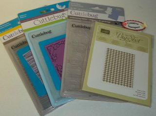 Cuttlebug, Sizzix Embossing Folders YOUR CHOICE scrapbo oking, craft