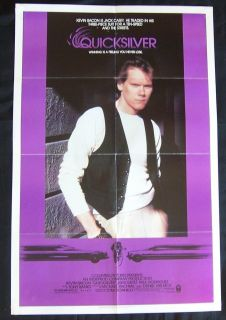 QUICKSILVER Kevin Bacon Bicycle Courier Jamie Gertz 1986 1sh MOVIE