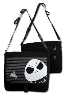Before Christmas Jack Skellington Metallic Skull Duck Courier Bag