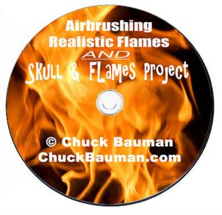 Airbrushing Realistic Flames DVD real fire, live fire, + Skull