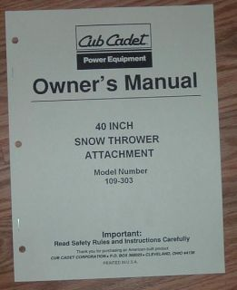 cub cadet snow thrower in Outdoor Power Equipment
