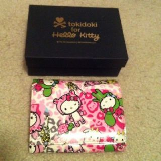 RARE Tokidoki for Hello Kitty Leopard print bi fold wallet Japan