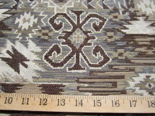 Navajo patterned chenille mix tapestry upholstery fabric ft967