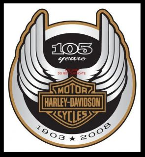 HARLEY DAVIDSON 105TH ANNIVERSARY LOGO DECAL **NEW**