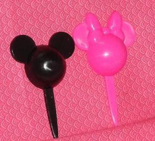 Mickey and Minnie Mouse cupcake Picks,12 COUNT, PLASTIC,