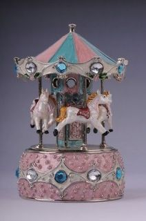 horses with music by Keren Kopal Swarovski Crystal Jewelry box