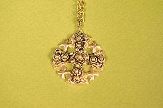 Sterling Silver Maltese Cross Pendant Marked Jerusalem, Stamped 950