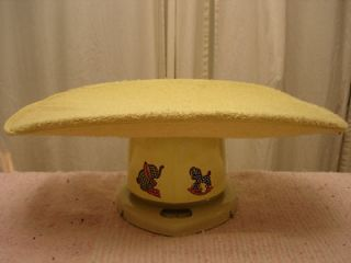 Vintage Counselor BABY SCALE Horse Pony elephant Cloth Cover Yellow