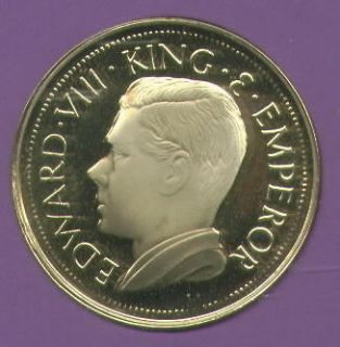 1936 Bermuda King Edward VIII Abdicated Pattern Crown Coin UNC in