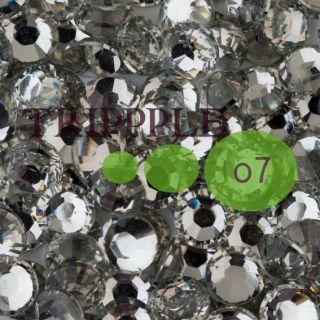 Crystal Clear Flat Back 14 Facet Resin Rhinestones Wedding Prom Shoe