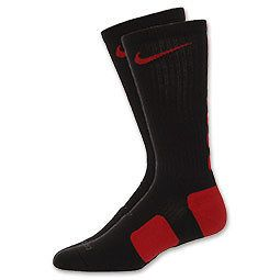 NIKE ELITE SOCKS BLACK RED SIZE 6 8 MEDIUM M BRAND NEW IN PACKAGE