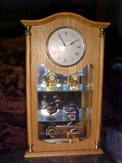 Daniel Dakota CLOCK CURIO Cabinet Mirror SOLID OAK USA!