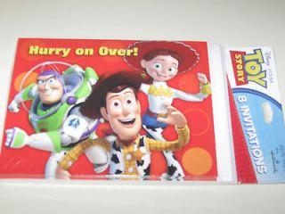 Disney TOY STORY Birthday Party Invitations 8 pack Woody Jessie Buzz