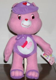 STUFFED ANIMAL 13 CARE BEAR PLUSH DOLL LOVE A LOT IN BEACH WEAR
