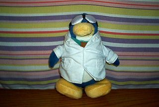 DISNEY Club Penguin Stuffed Plush GARY THE GADGET GUY~New
