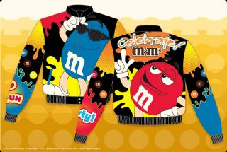 Youth Kids Boys M&M Black Yellow Red Celebrate Nascar Jacket Coat Fall