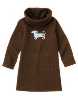 NWT Gymboree Girls Best Friend Dachshund Dog Cowl Neck Fleece Dress