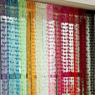 Heart String Curtain Panel Line Tassel Drape for Wall Vestibule Door