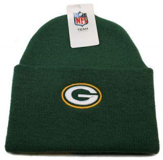 NFL Green Bay Packers Football (Green) Cuffed Knit Beanie Hat Free