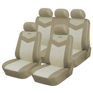 Newly listed Synthetic Leather Semi   Custom Car Seat Covers 60 40 top