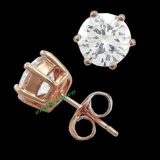 cubic zirconia gold stud earrings