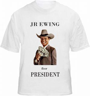 JR Ewing T shirt USA President Dallas Cash US Election