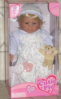 MY CUTIE PIE BABY DOLL ADORABLE BLUE EYES BY KINGSTATE