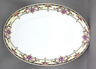 Super Victoria Czechoslovakia Fine China 12 Serving Platter