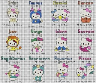 hello kitty cross stitch pattern