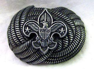 Vintage Boy Scouts of America BSA Eagle Neckerchief Bolo Slide Scarf