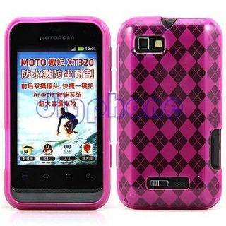 Rose Red Pattern TPU Silicone Gel Case Cover For Motorola Defy Mini