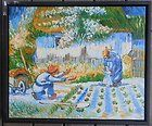 VINCENT VAN GOGH SCHOOL ORIGINAL OIL PAINTING FRENCH GARDEN SUPERB