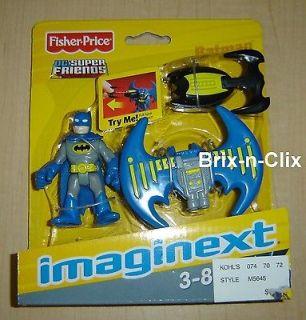 Imaginext DC Super Friends Batman w/ Grapple Hook Wing 2008 Brand NEW