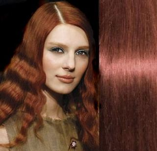 15 Remy Clip in Human Hair Extensions Red Auburn 33#