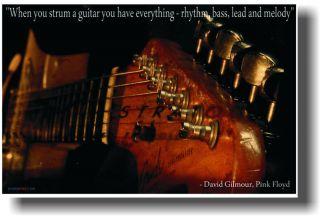 Strat David Gilmour Pink Floyd GUITAR Music POSTER