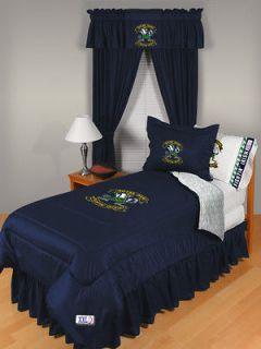 Notre Dame NCAA 8 Piece Full Comforter Bed Set, NEW