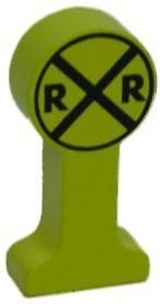 RAILROAD CROSSING SIGN Thomas Wooden Tank Train A NEW on