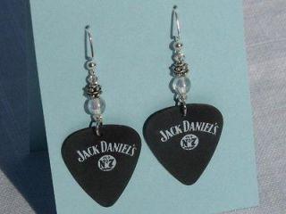Handmade Jack Daniels Guitar Pick Earrings