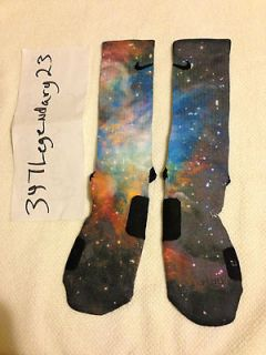 Nike Elite Sock Galaxy Custom sz Large 8 12 100% authentic