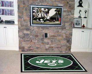 York Jets NFL 5 x 8 Decorative Plush Area Rug Floor Mat by Fan Mats