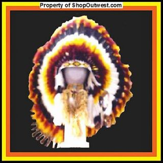 Native American Navajo 36 War Bonnet Headdress WINDSONG Yelow black