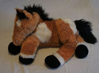 Made Toys Large Soft Stuffed Plush Floppy Brown White Horse Doll Toy