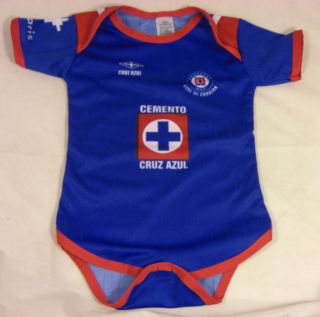 Cruz Azul baby body suit Mexico Soccer NEW Blue like pro soccer jersey