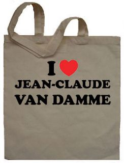 Love Jean Claude Van Damme Tote Bag Shopper   Can Print Any Name