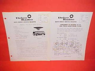1962 GMC TRUCK UNITED MOTORS DELCO GM RADIO SERVICE SHOP MANUAL PICKUP
