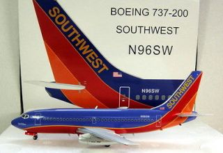 Inflight 200 1/200 Boeing 737 200 Southwest Airlines Canyon Blue