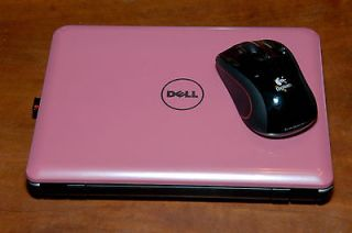 Dell Mini 9 Pink Netbook Inspiron 910 PC Windows XP Webcam WiFi mouse
